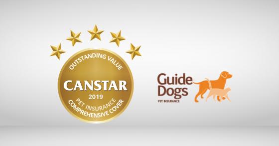 Pet Insurance Award 2019 Guide Dogs Australia