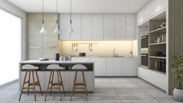 A neutral coloured kitchen will be less likely to go out of style.