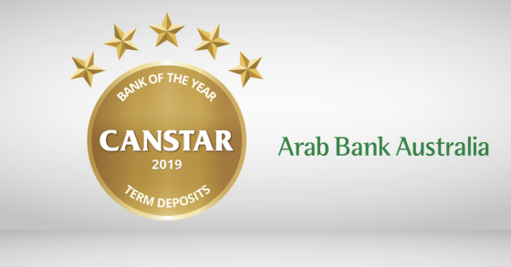 Term Deposit Award Winner 2019 Arab Bank
