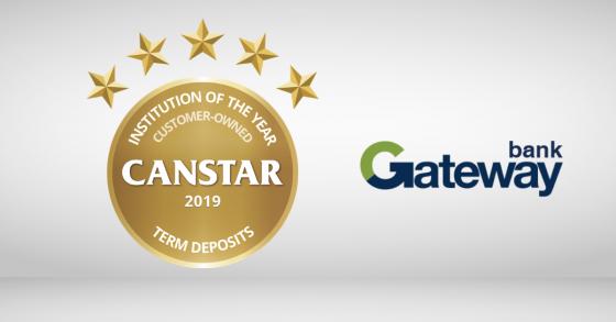 Term Deposit Award Winner 2019 Gateway Bank
