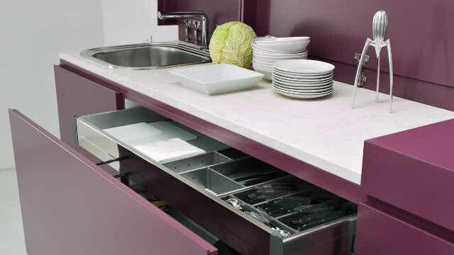 Jewel tones are making a kitchen splash.