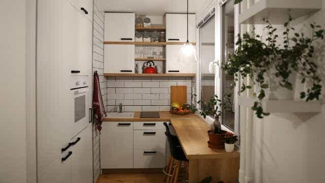 A super-compact kitchen.