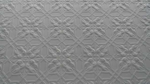 Pressed metal pattern.