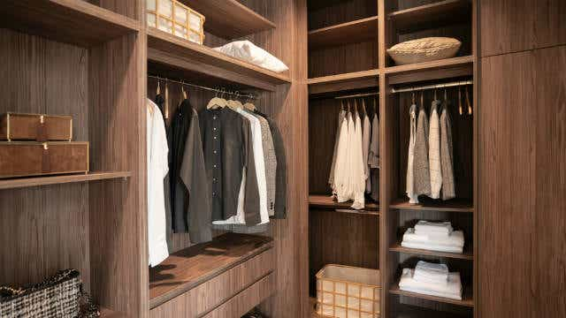 Picture of a walk-in wardrobe, news crop.