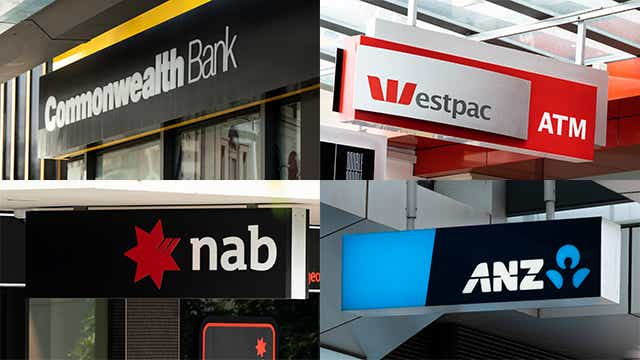 Big four banks - CBA, WBC, NAB and ANZ
