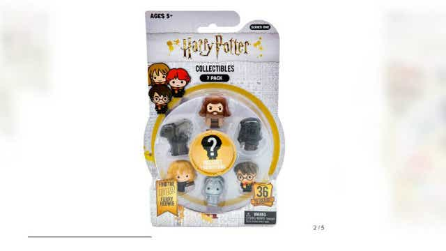 A pack of seven Harry Potter Ooshies, where six characters are visible and one is hidden. Image: Target