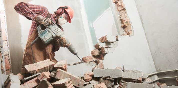Selective or partial home demolition with tools
