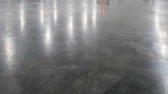 burnished concrete floor