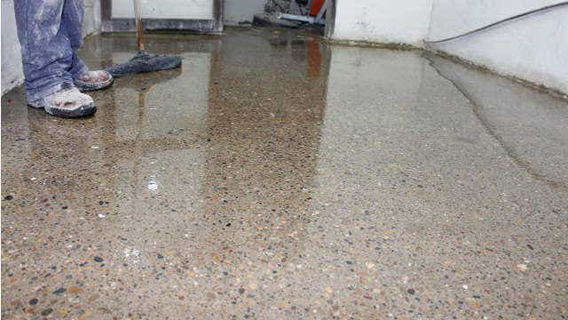 polished concrete honed