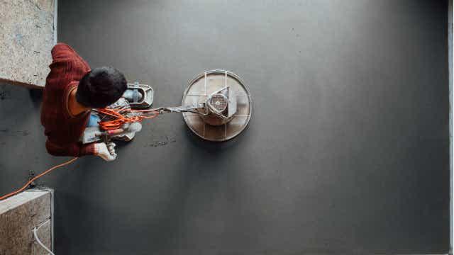 polished concrete machine trowel