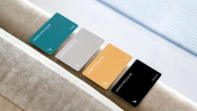 Cathay Pacific Marco Polo membership cards