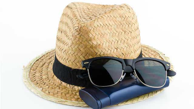 Sunglasses, hat and sunscreen
