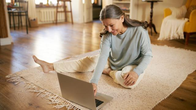 Laptop posture at home