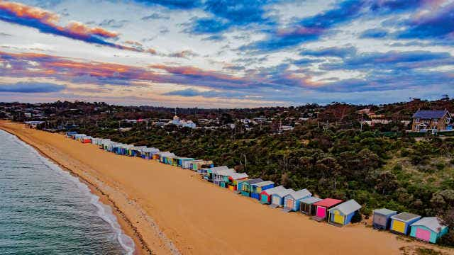 Beach boxes in the Mornington Peninsula