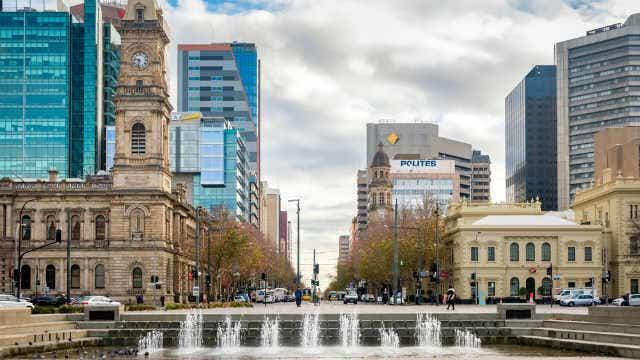 Victoria Square in Adelaide city