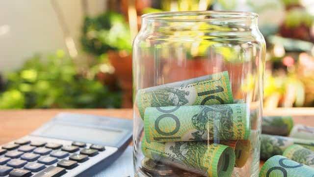 Jar of Australian money