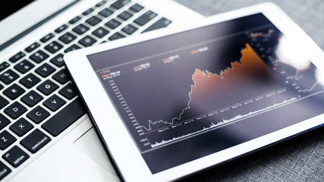 share market on tablet