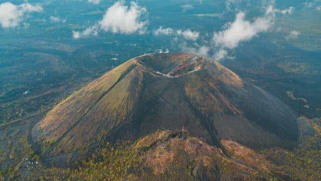 An aerial view of Mexico's Paricutin Volcano