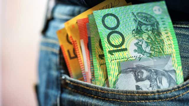Saving money in pocket