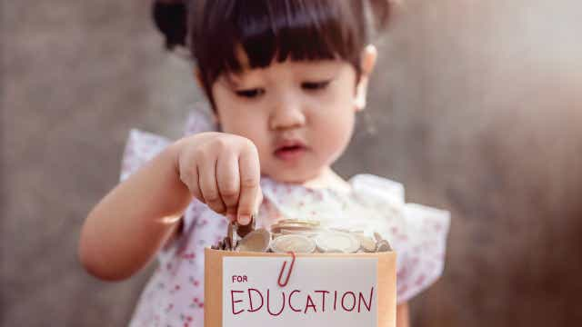 trust fund for education young girl