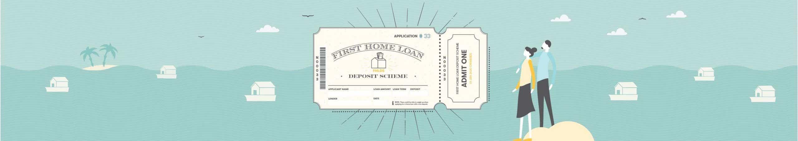 First Home Loan Deposit Scheme Application Illustration Banner